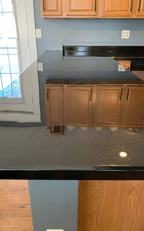 Black epoxy countertop in Maine