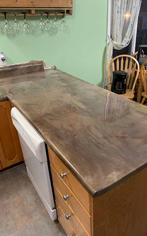 Refinishing countertops with epoxy in Maine
